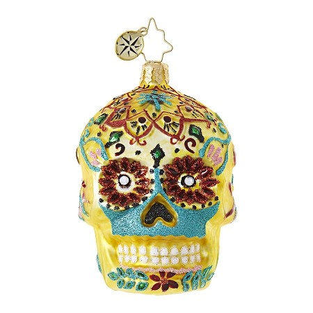 RADKO 1018743 CALAVERA DE ORO GEM - DAY OF THE DEAD SKULL ORNAMENT - NEW 2017 (25)