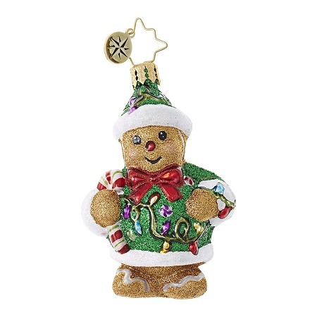 RADKO 1018755 LIGHT 'EM UP GINGER GEM - GINGERBREAD MAN WITH LIGHTS ORNAMENT - NEW 2017 (25)