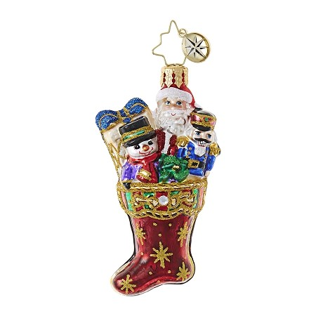 RADKO 1018760 NO COAL HERE GEM - JEWELED STOCKING ORNAMENT - NEW 2017 (25-1)