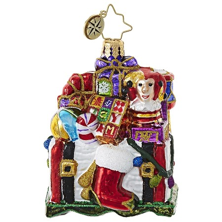 RADKO 1018775 TREASURE FOR TOTS GEM - CHEST FULL OF TOYS ORNAMENT - NEW 2017 (25-1)