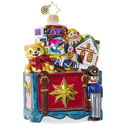 RADKO 1018815 THE GANG'S ALL HERE - TOYBOX FULL OF TOYS ORNAMENT - NEW 2017 (17-9)