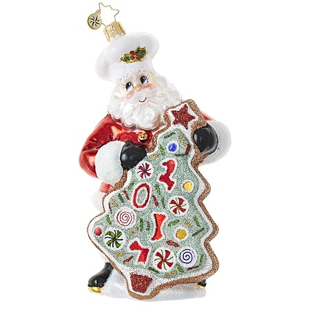 RADKO 1018854 SUGAR COOKIE KRIS - DATED 2017 - SANTA WITH COOKIE ORNAMENT - NEW 2017 (17-2)