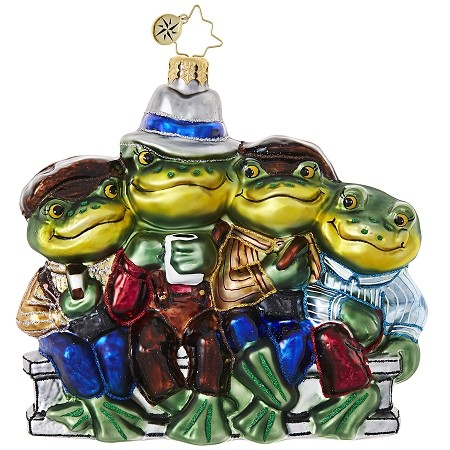 RADKO 1018874 OUT TO LUNCH - 4 FROGS ORNAMENT - NEW 2017 (17-11)