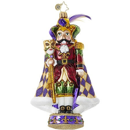 RADKO 1018949 HOLD ON TO YOUR BEADS! - MARDI GRAS - JESTER NUTCRACKER ORNAMENT - NEW 2017 (17-13)