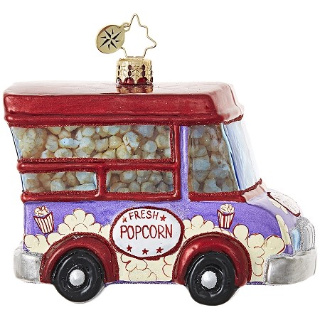 RADKO 1018982 A TRANSPORT THAT POPS! - FRESH POPCORN TRUCK ORNAMENT - NEW 2017 (17-14)