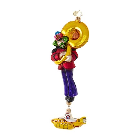 RADKO 1019036 YELLOW SUBMARINE GEORGE - BEATLES COLLECTION - GEORGE WITH YELLOW SUBMARINE DANGLE ORNAMENT - NEW 2017 (17-5)
