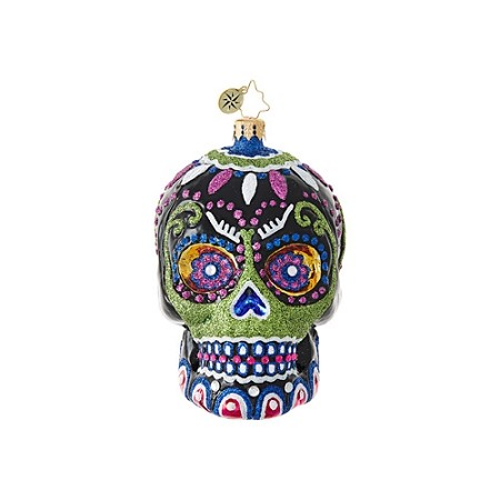 RADKO 1019055 DROP DEAD GORGEOUS! - HALLOWEEN - DAY OF THE DEAD - SKULL ORNAMENT - NEW 2017 (H8)