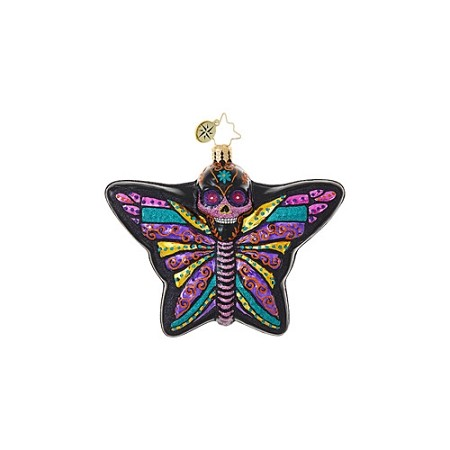 RADKO 1019056 DEADLY BEAUTIFUL - HALLOWEEN - DAY OF THE DEAD - BUTTERFLY ORNAMENT - NEW 2017 (H8)