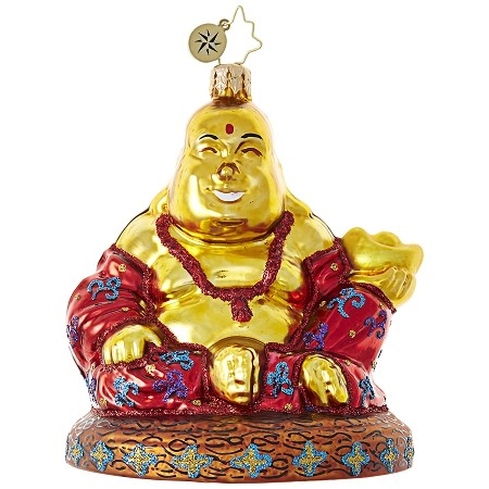 RADKO 1019068 FIND YOUR ZEN - BUDDAH ORNAMENT - NEW 2017 (17-16)
