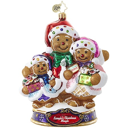 RADKO 1019081 BEARING SWEET TREATS - KRINGLE'S CHRISTMAS MINGLE - GINGERBREAD BEARS WITH COOKIES ORNAMENT - NEW 2017 (17-1)