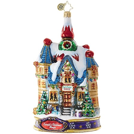 RADKO 1019082 THE BIG NIGHT! - KRINGLE'S CHRISTMAS MINGLE - THE HOUSE IS READY ORNAMENT - NEW 2017 (17-1)