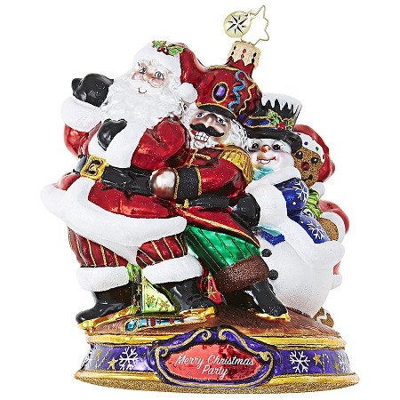 RADKO 1019086 CONGA! - KRINGLE'S CHRISTMAS MINGLE - SANTA, NUTCRACKER, SNOWMAN & BEAR DANCE ORNAMENT - NEW 2017 (17-1)