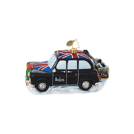 RADKO 1019089 BEATLES INSTRUMENT CAB - BEATLES COLLECTION - BRITISH TAXI ORNAMENT - NEW 2017 (17-5)