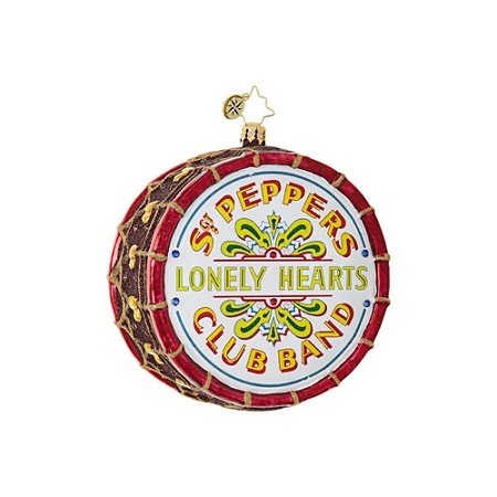RADKO 1019092 BEATLES SGT. PEPPERS DRUM - BEATLES COLLECTION - SGT. PEPPERS LONELY HEART CLUB BAND DRUM ORNAMENT - NEW 2017 (17-5)