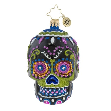 RADKO 1019180 DROP DEAD GORGEOUS GEM - DAY OF THE DEAD - SKULL ORNAMENT - NEW 2018 (26-2)