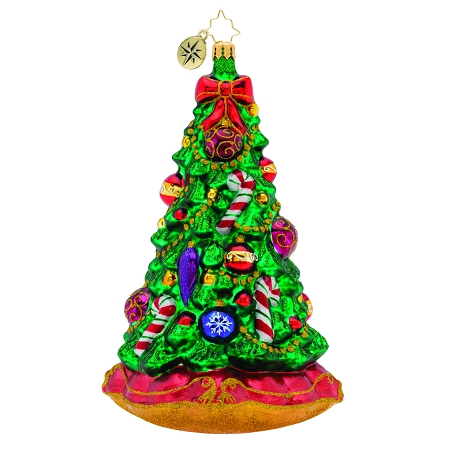 RADKO 1019784 CHRISTMAS TRADITION! - LIMITED EDITION OF 668 - TREE WITH CANDY CANES ORNAMENT - NEW 2019 (19-1)
