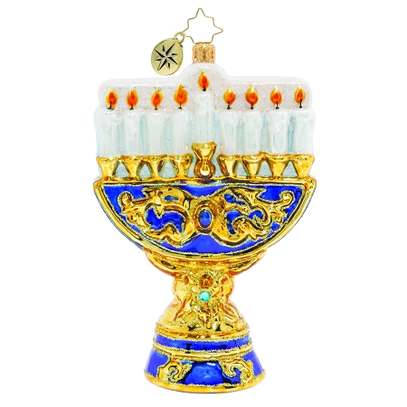 RADKO 1019996  - LIGHTING UP THE HOLIDAYS - HANUKKAH - MENORAH ORNAMENT - NEW 2019 (68-3)