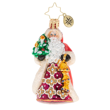 RADKO 1020246 JINGLE FOR ALL TO HEAR GEM - SANTA WITH BELLS AND A TREE ORNAMENT - NEW 2020 (28-4)