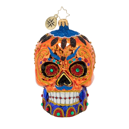 RADKO 1020544 COLORFUL CALAVERA - HALLOWEEN - DAY OF THE DEAD - SUGAR SKULL ORNAMENT - NEW 2020 (20-1)