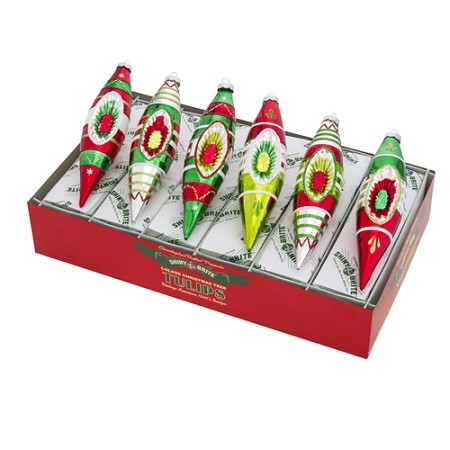 RADKO 4026904 SHINY BRITE - HOLIDAY SPLENDOR TULIPS WITH REFLECTORS - ASSORTMENT 6 - NEW FOR 2016