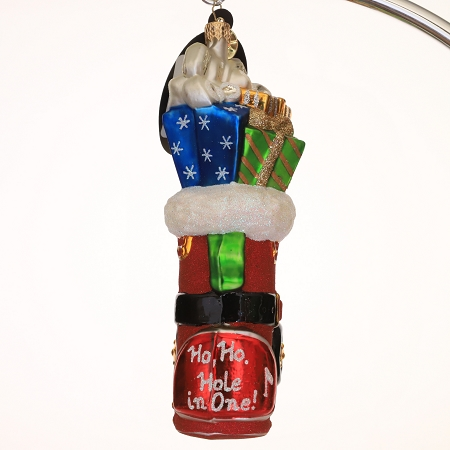 RADKO 1014731 IN THE HOLE - GOLF BAG WITH GOLF CLUBS AND GIFTS ORNAMENT  - NEW 2010 (101)