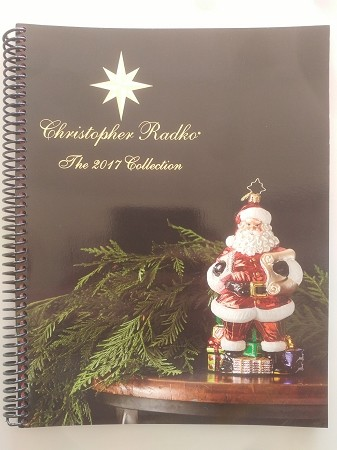 radko 2017 catalog 167 color pages spiral bound free media mail shipping - Free Christmas Catalogs Mail