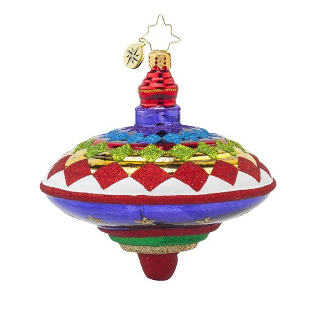 RADKO 1017744 PRETTY SPINNER - TOY - SPIN TOP ORNAMENT - NEW 2015 (15-8)