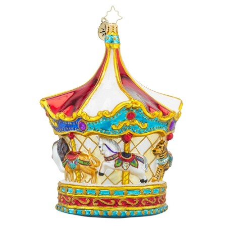 RADKO 1018216 MENAGERIE GO ROUND - LIMITED EDITION - MERRY GO ROUND - CAROUSEL ORNAMENT - NEW 2016 (16-2)