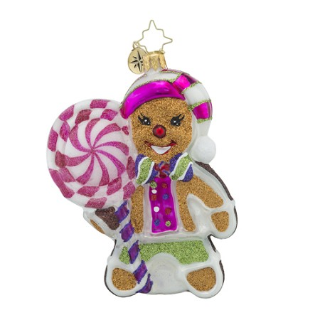 RADKO 1018443 PEPPERMINT JOY - GINGERBREAD GIRL ORNAMENT - NEW 2016 (16 - 12)