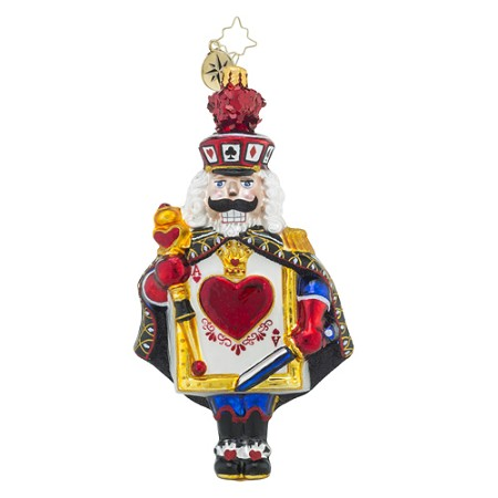 RADKO 1018494 DEAL FROM THE DECK CRACKER - NUTCRACKER WITH THE ACE OF HEARTS ORNAMENT - NEW 2016 (16 - 13)