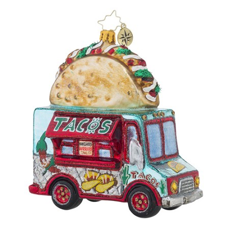 RADKO 1018499 SAVOR THE FLAVOR - TACO FOOD TRUCK ORNAMENT - NEW 2016 (16 - 14)