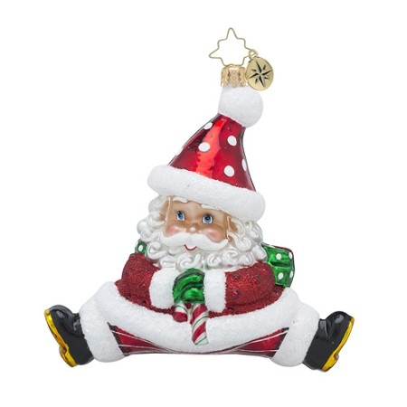 RADKO 1018509 DOUBLE TROUBLE NICK - DOUBLE SIDED SANTA ORNAMENT - NEW 2016 (16 - 14)