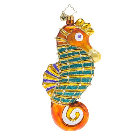 RADKO 1018534 STALLION OF THE SEA - SUMMER - JEWELED SEAHORSE ORNAMENT - NEW 2016 (16 - 15)