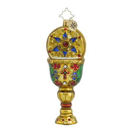 RADKO 1018550 CHALICE OF HOPE - RELIGIOUS - JEWELED GOLD CUP ORNAMENT - NEW 2016 (16 - 15)