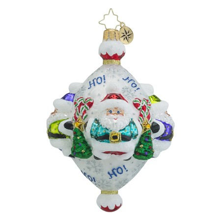 RADKO 1018577 SANTA QUAD - 4 SIDED SANTA ORNAMENT - NEW 2016 (16 - 15)