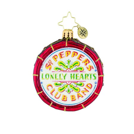 RADKO 1019351 DRUM ROLL, PLEASE! GEM - BEATLES COLLECTION - SGT PEPPERS LONELY HEARTS CLUB BAND ORNAMENT - NEW 2018 (26-8)