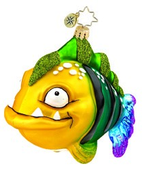 RADKO 1015500 FREDDY - YELLOW & GREEN FISH - NEW 2011 (11-2)