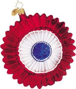 RADKO 01-0588-0 FREEDOM FLOWER - PATRIOTIC RED FLOWER ORNAMENT - RETIRED (A1)
