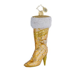RADKO 1016433 VERY BEST BOOTS - GOLD LADIES BOOT ORNAMENT - NEW 2013 (13-3)