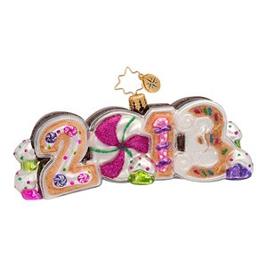 RADKO 1016987 A SWEET YEAR - DATED 2013 - CANDY & COOKIES ORNAMENT - NEW 2013 (13-2)