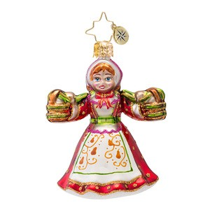 RADKO 1016983 MAIDS A MILKING GEM - 12 DAYS OF CHRISTMAS - 8 MAIDS ORNAMENT - NEW 2013 (21-1)