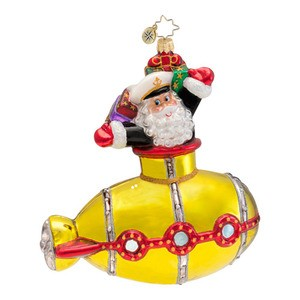 RADKO 1016592 UNDERSEA SANTA - SANTA & SUBMARINE ORNAMENT - NEW 2013 (13-8)