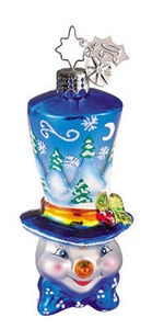 RADKO 1011720 WINTER WONDERTOP GEM - SNOWMAN - RETIRED ORNAMENT (1)