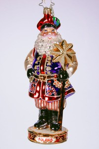 RADKO 1017422 FAMILY HERITAGE - POLAND - POLISH SANTA - CHRISTMAS AROUND THE WORLD COLLECTION - NEW 2014 (14-1)