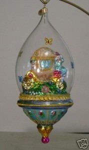 RADKO 1011631 DAPPER DOME DELUXE - EASTER - RETIRED ORNAMENT (E2)