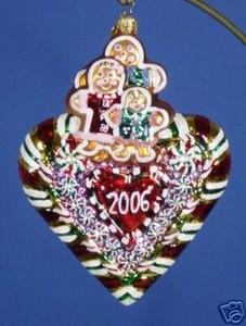 RADKO CELEBRATE ADOPTION 2006 & 2007 ORNAMENTS (AA)