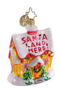 RADKO 1012139 SPECIAL INVITATION GEM - HOUSE - SANTA LAND HERE - RETIRED ORNAMENT (4)