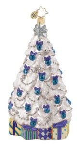 RADKO 1015229 WINTER FROST FIR - TREE & GIFTS - ORNAMENT - NEW 2010 (Q6)