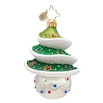 RADKO 1017393 SPRIGHTLY SPRUCE GEM - JEWELED TREE ORNAMENT - NEW 2014 (22-1)