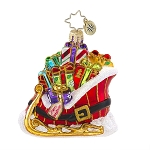 RADKO 1017602 BUCKLE UP FOR A GIFT RIDE GEM - SLEIGH FULL OF GIFTS ORNAMENT - NEW 2015 (23)